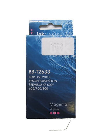 Compatible Epson 26XL T2633 Magenta Ink Cartridge Polar Bear C13T26334010