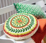 Folk medallion cushion
