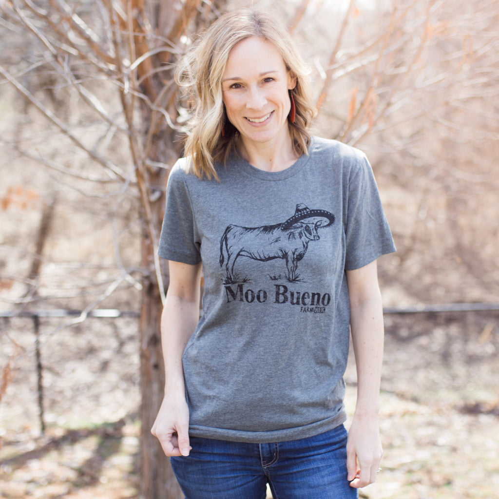 "FarmHer ""Moo Bueno"" Adult T-Shirt"