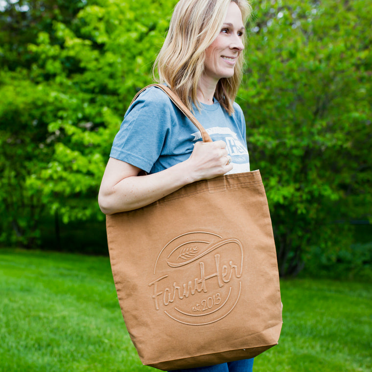 FarmHer Est 2013 'Circle' Light Brown Tote Bag