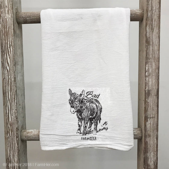 "FarmHer 'Bad Donkey"" Towel"