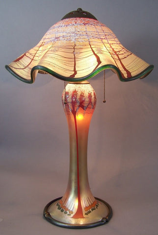 Magnum Gold Cherry Blossom Ruffled Lamp