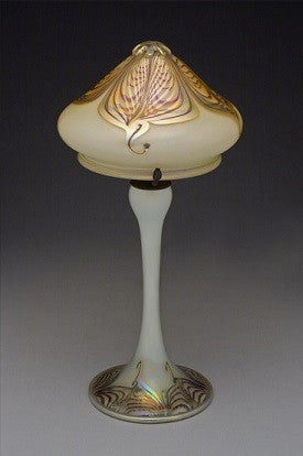 Opal Gold Double Feather Lamp