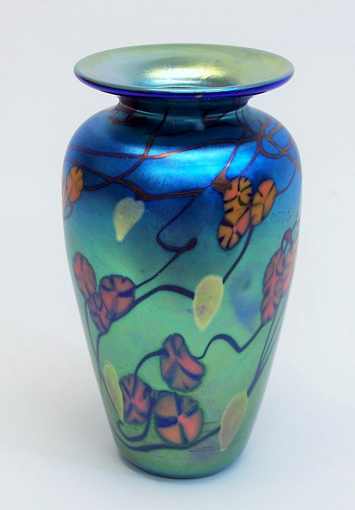 Blue California Poppy Cabinet Vase