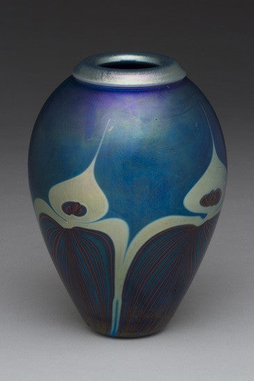 Blue Peacock  Medium Vase