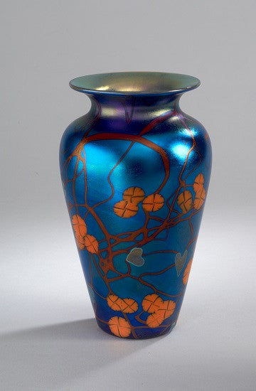 Blue California Poppy Medium  Vase