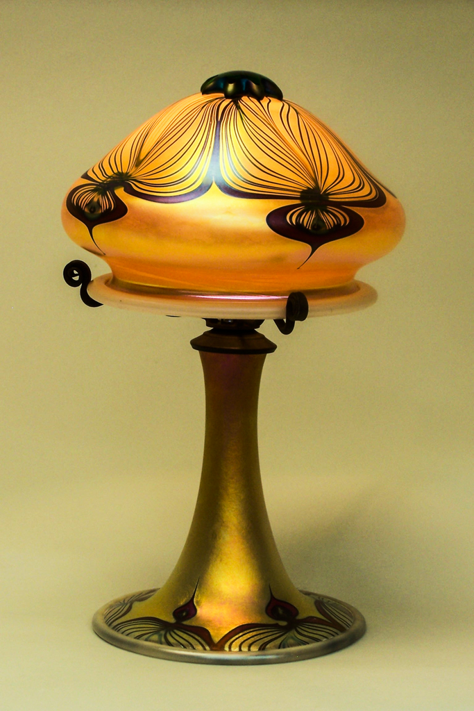 Small Gold Peacock Lamp