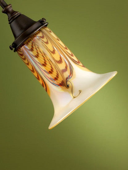 "Opal Gold Double Feather Trumpet 2.25"" Fitter Shades"