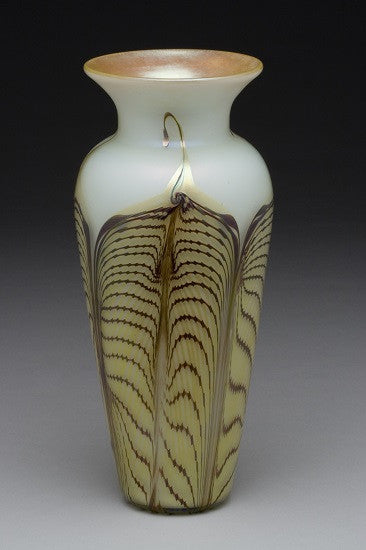 Opal Gold Double Feather Vase