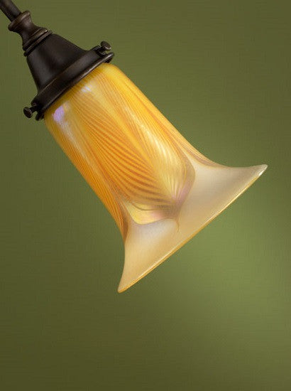 "Opal Gold Feather Trumpet 2.25"" Fitter Shades"