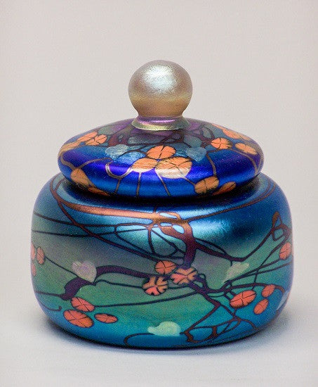 Blue California Poppy Jewelry Jar