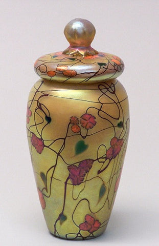 Small Gold California Poppy Lidded Jar
