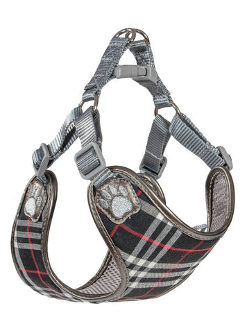 Pretty Paw Scotland Charcoal Harness