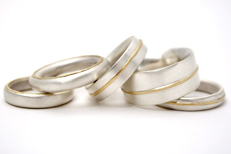 Selection of Gold Lines rings
