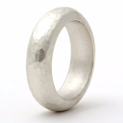 Attraction Hammered Sterling Silver Ring - Personalised
