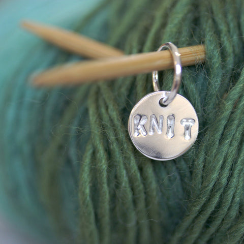 Purl Disc Silver Stitch Markers - Personalised