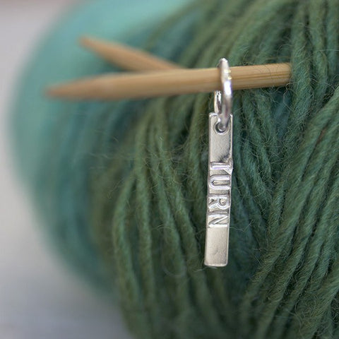 Knit Long Silver Stitch Markers - Personalised