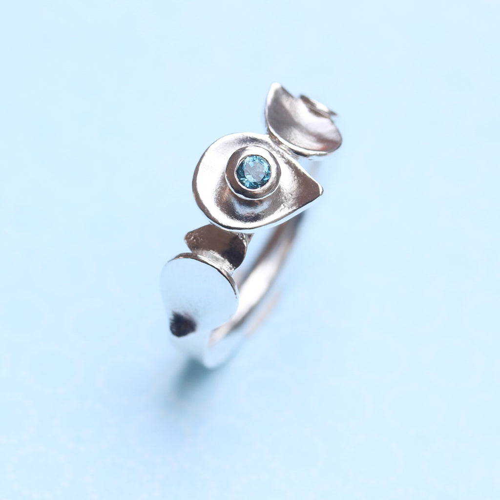 Dewdrop Stacking Silver ring