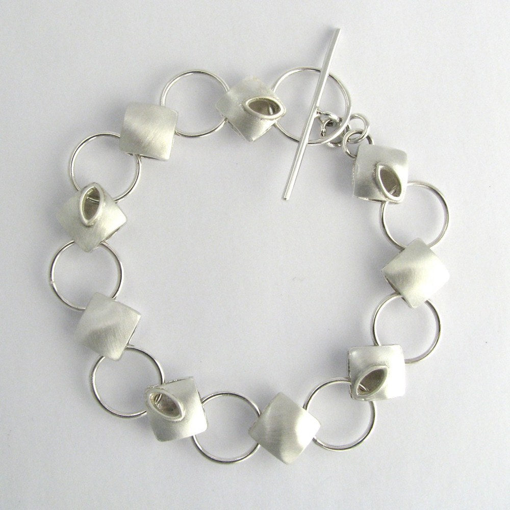 Sterling silver cushion bracelet