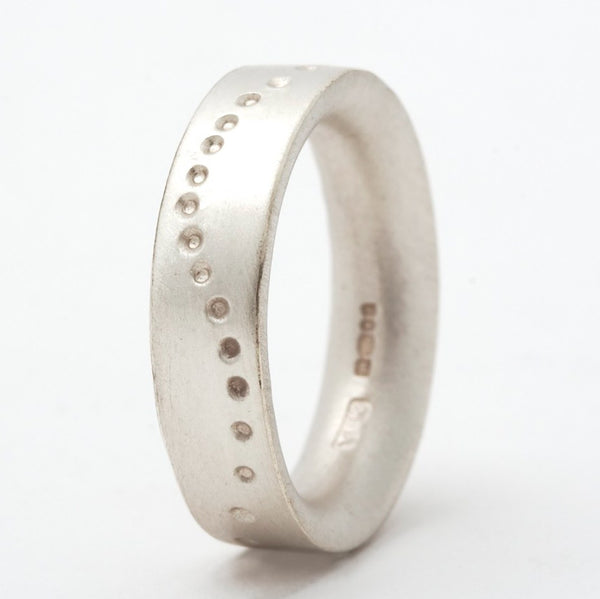 Wavy Dotty Silver Ring