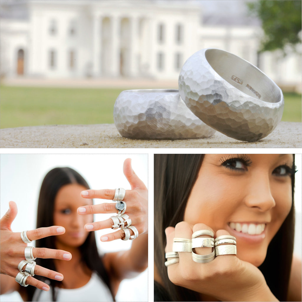 Chunky ring wedding and model shots