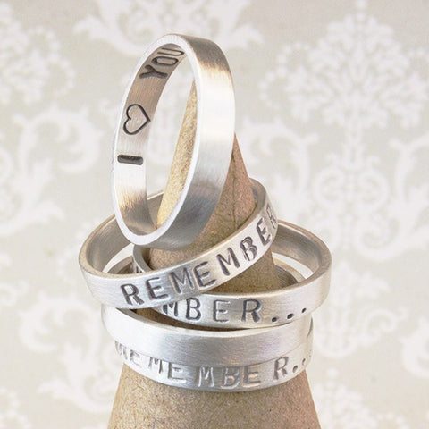 Personalised Silver Story Ring