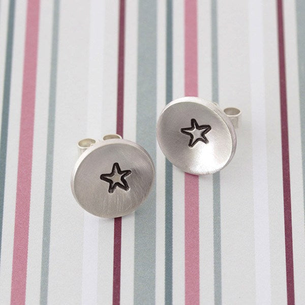 Superstar Handmade Silver Stud Earrings