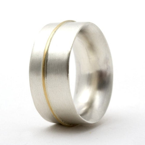 Chunky Silver & Gold Ring