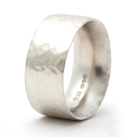 Ringleader Hammered Sterling Silver Ring – Personalised
