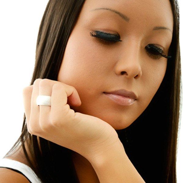 Chunky Rounded Ring On Model