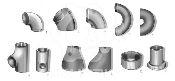 Butt Weld (Buttweld) Pipe Fitting - Elbow - Reducer - Tee