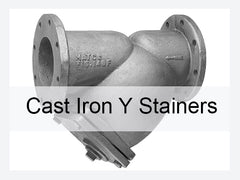 CAST IRON and BRONZE Y STRAINERS