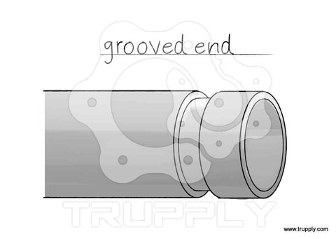 grooved pipe end