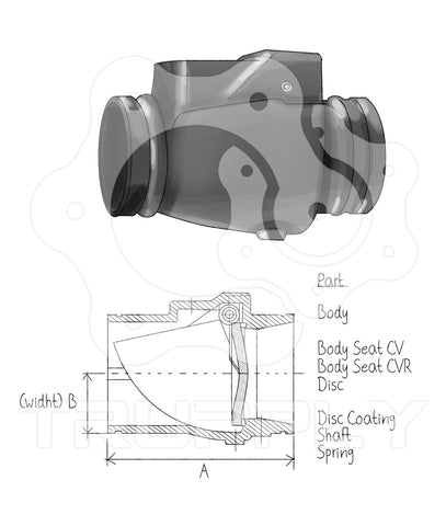 Grooved Check Valve