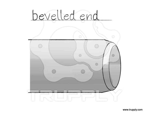beveled end pipe