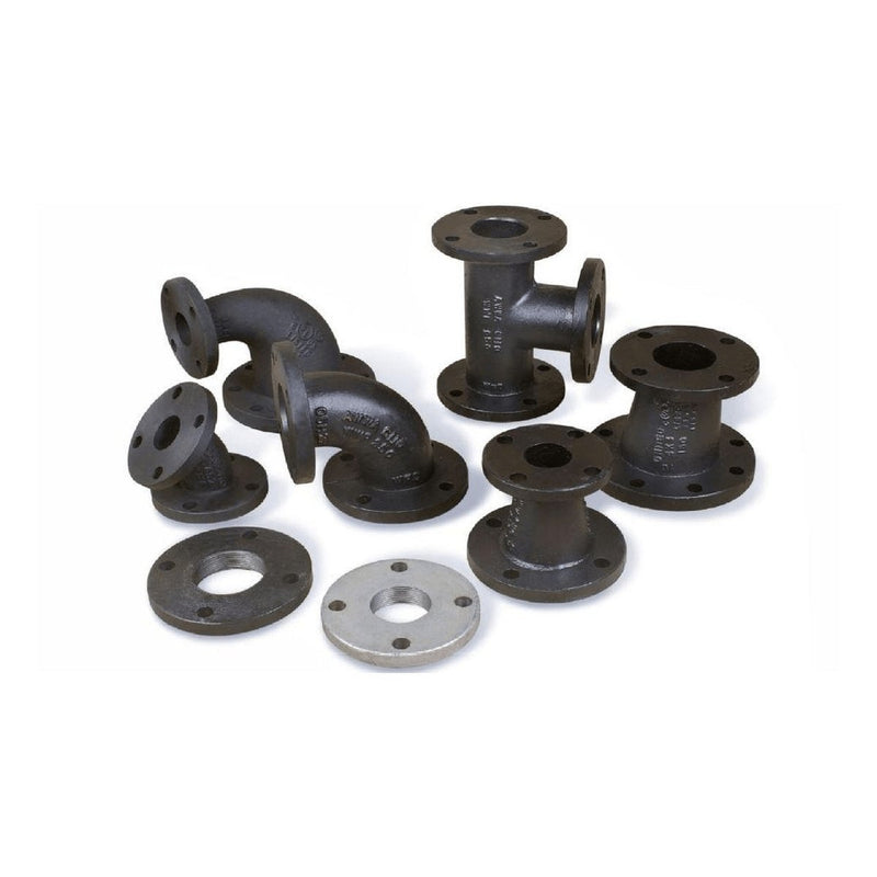 Cast | Ductile Iron Flanged Fittings | 90 Reducing Elbow