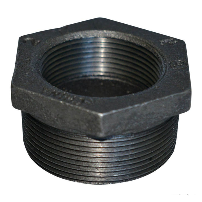 Hex Bushing | Threaded Fitting | Malleable Iron | Black