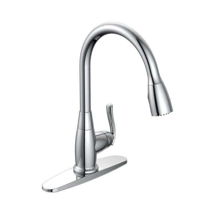 Style BL-151 | Builder Light | Single Handle | Pull-Down Kitchen Faucet | Chrome