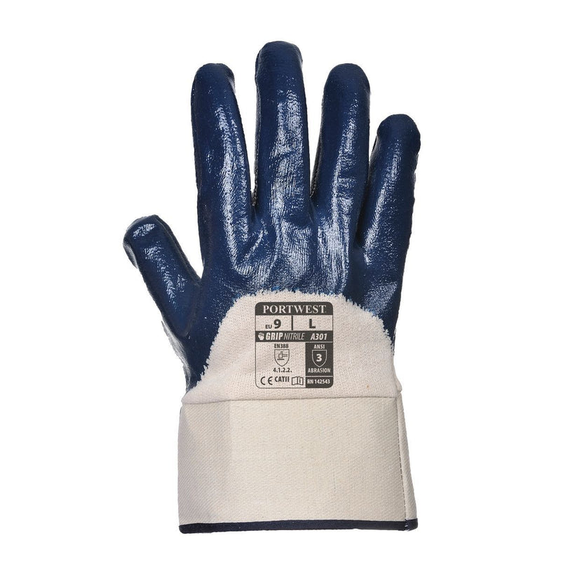 Style A301 Nitrile Safety Cuff Glove-1