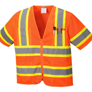 Style US383 Augusta Sleeved HiVis Vest-1