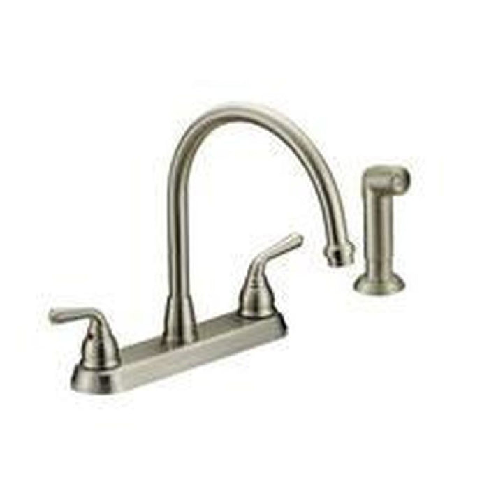 Style CR-240 | Crescendo | Two Handle | Kitchen Faucet | With Plate | Stainless Steel