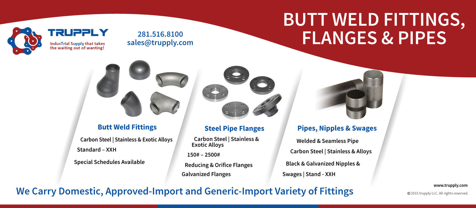 Dresser Couplings, Pipes, Tubes, Flanges, Fittings