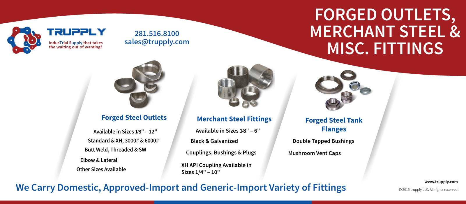 Threaded fittings, forged fittings