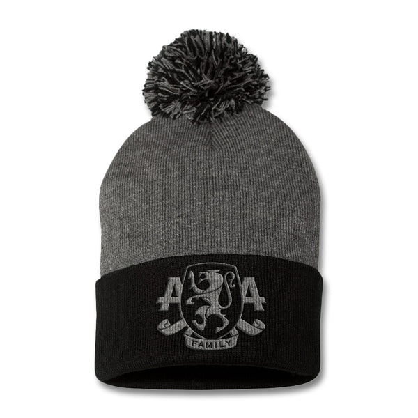 Official Asking Alexandria Embroidered Family Crest Pom Beanie