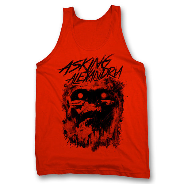 Scratch Skull Tank Top - Red