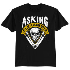 Skull Shield T-shirt - Asking Alexandria Official Store - 1
