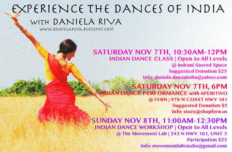 Daniela Riva will be performing at FERN November 7th