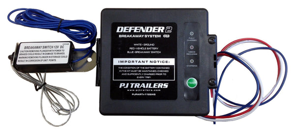 "Breakaway Kit ""Defender 2"" w/LED Breakaway Switch PJ Trailers Canada, Inc."