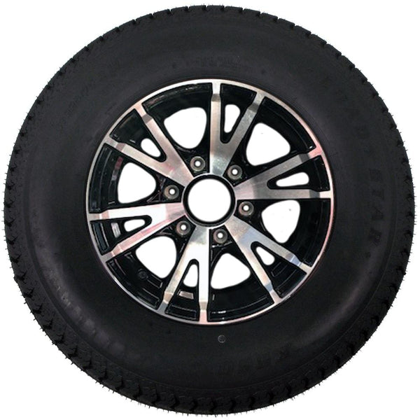 225/75R15, 6 Hole, Aluminum Wheel Tire with Aluminum Rim PJ Trailers (tires)
