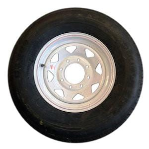 ST235/85R16, 8 Hole, 14 Ply Tire with Steel Rim PJ Trailers (tires)